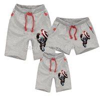 Family fashion family set  Captain America 2 shorts children's clothing