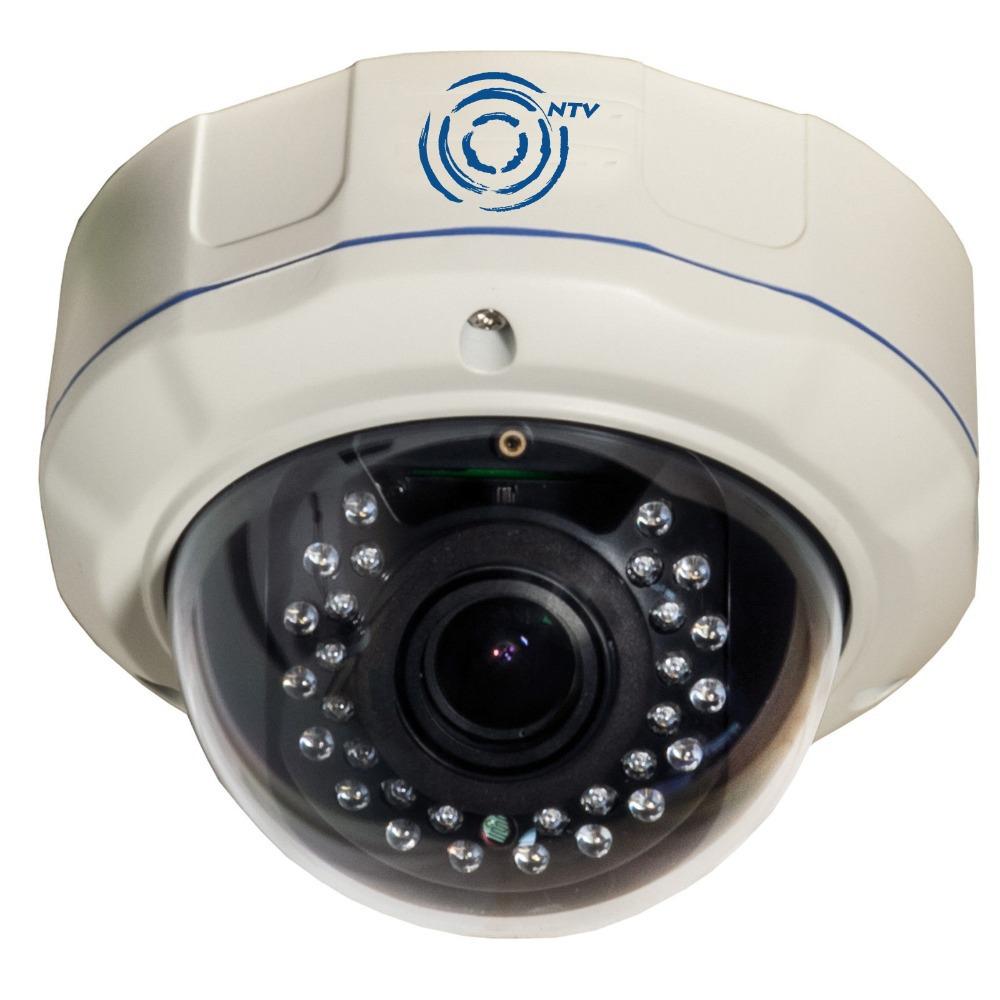 1080p multi- función de la cámara ip, a prueba de vandalismo domo de la cámara lente varifocus 2.8-12mm onvif vista móvil, de audio, de alarma, agua- una prueba