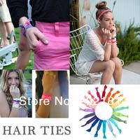 04# Optional colors 20pcs/lot Ribbon Elastics Hair Bands-Girls Hair Accessories Emi Jay Like Elastic Yoga Leopard Hair Ties