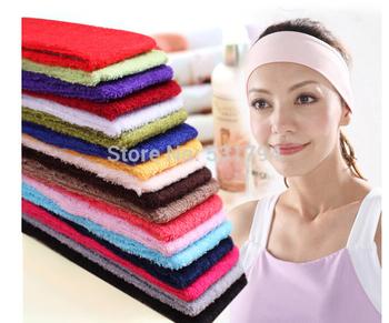 1 шт. конфеты цвет йога волосы поводок ткань полотенца впитывает пот мыть с широкий шарф + бесплатная доставка