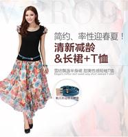 Vestido De Festa Direct Selling 2014 Plus Size Women Spring Summer Dresses Quality One-piece Dress Slim Bohemia Beach Casual