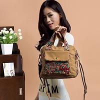 2014 women's handbag national trend handbag canvas bag messenger bag female bag Small women's tote bags