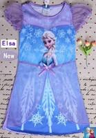 2014 new design summer models girls gauze dress girl dress kids clothes cartoon Free Shipping