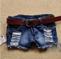 New 2014 women shorts renda summer Fashion jeans short denim shorts feminino hole lace personality short feminino saia S,M,L,XL