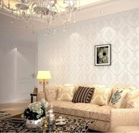 Modern Damask Feature Wallpaper Wall paper Roll For Living Room Bedroom 10m/roll