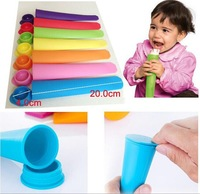 free shipping 400pcs/lot Push Up Ice Cream Pop Maker Ice Popsicle Mould Mold Jelly Lolly Mold mix colors