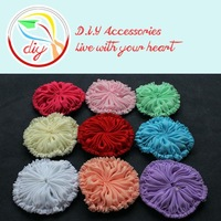 (50 pieces/lot) New arrival 2.7'' frayed chiffon flower,Vintage Shabby unfinished flowers,hair accessory Wholesale(9 colors)