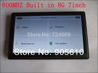 7 inch car GPS Navigation 800MHZ+FM+128RAM+8GB+800*480 HD touch screen GPS navigator