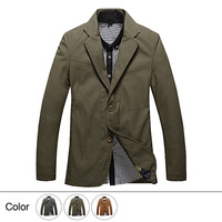 2014 Fashion Men's Blazer Casual Spring and Autumn Outwear Coats-Free Shipping