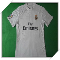 2015 Brand Factory Fans Version Real Madrid Home Jersey,Men Outdoor Breathable Real Madrid White Jersey,Size S-XL,Free Ship