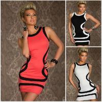 New winter Dress 2015 spring Fashion Lady Bare shoulder party costume vestidos Sexy stripes roupas femininas women summer dress