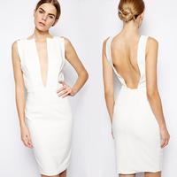 Summer dress 2014 girl dress  fashion design sense of the trend of fashion sexy racerback V-neck  sleeveless one-piece dress