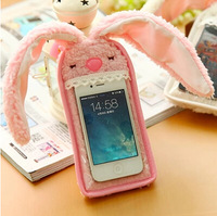 3170 Free shipping cute bunny rabbit cell phone mobile phone pocket protective case pouch belt