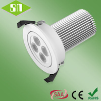 100-240V dimmable 3000k white  4x3w led down light