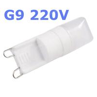 10PCS Dimmable MOQ Mini G9 220V 5W LED Ceramic Crystal Lamp Corn Bulb Chandelier COB Spot Light Cool/Warm White 360 degree