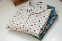 Free shipping,2014 New,women fashion Vintage polka dot long sleeve summer/spring cotton shirts,ladies fashion Top Blouse