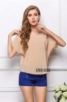 Free shipping 2014 New Women Summer Blouses Tops for women  blusas femininas  atacado roupas femininas