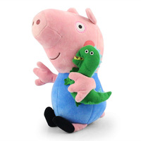 "Hot sale 12"" 30cm Blue peppa pig and george pig with dinosaur plush doll soft toy Retail"