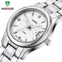 luxury brand watches men stainless steel Japan movement watch calendar quartz watch relogios 30m water resistant WEIDE 2014