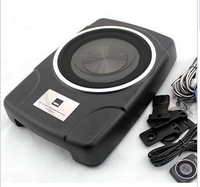 Free Shipping MBQ AW-800E 8'' Car Audio Active Subwoofer/Aluminum Housing/160W Amplifier Active Under Seat Car Subwoofer