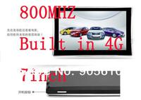7 inch Gps navigation cheapest car navigator metal Edge 800MHZ 4GB DDR 128MB 800*480 Windows CE6.0