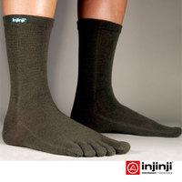 Injinji men Marathon socks quick-drying wool  breathable outdoor finger toe socks ultra-thin