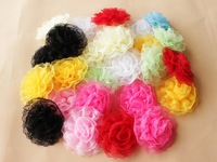 30pcs/lot baby girls hair lace flowers in stock red white pink black lace flowers for hair accessories 10cm