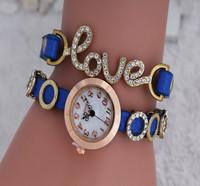 Women Fashion Laffer 2014 Vintage Watches Watch Love Rhinestone, Optional Quartz Watch Women Clothing Watch