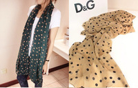 PROMOTION!! Cheap autumn silk scarf women's chiffon circle chain fashion design long cape scarf FRee shipping
