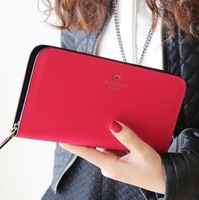 2014 new arrival fashion high-end genuine leather pure color women long style wallets women's clutch free shipping