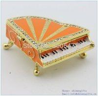 Enamel metal custom made jewelry box wholesales with piano
