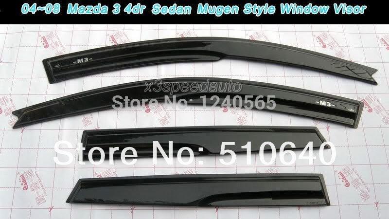 Хромовые накладки для авто Mugen , Mazda 3 3 4dr 04/09/2004 2005 2006 2007 2008 2009 hhj ветровики skyline mazda 3 hb5d 09