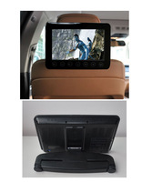 2X9 inch headrest dvd player for car with sd usb, rca input,FM IR for car and home use