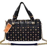 Michaels women handbags Smiling face rivet  Bags leather Handbag tote purse luggage  free shipping