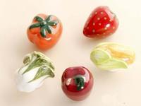 10pcs Cartoon style Ceramic knob sepcial for Kids/Kitchen Ceramic Door Cabinets Cupboard knob and handles tomato,apple,corn etc.