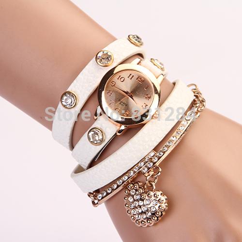 2015 New Fashion Women Dress Watches Leather Strap Wristwatch