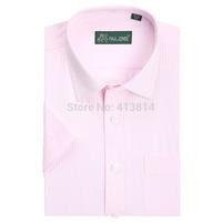 2014 Men's brand shirt Mens Short sleeve dress shirt men Classic easy care business Formal shirts for men large size
