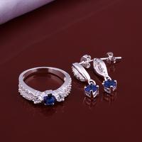 Wholsale new FASHION jewelry  925 Sterling Silver ring earrings set Penoyjewelry LKNSPCS640