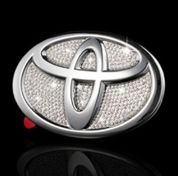 car diamond emblem for toyota camry, corolla,yaris, reiz ,toyota highlander diamond logo set