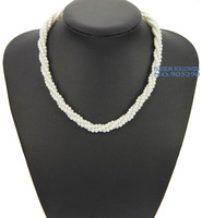 Christmas Gift Women Pearl Necklaces Fashion Jewelry 3 Layer Lovely Small Beads Handmade Statement Short Chain NDF02