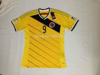2014 world cup Colombia  Home jerseys fan versions colombia FALCAO, JAMES,ESCOBAR,WALDERRAMA,AGUILAR