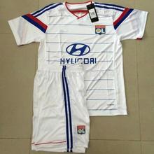 Melhor Qualidade 2014 - 2015 temporada kits Lyon Início jérseis de futebol brancos uniformes de futebol de formação frete grátis(China (Mainland))