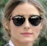 Women men Italy Designer 2014 Fashion Luxury Brand so real Sunglasses Retro Personalized reflective mirror sunglasses ,with pack