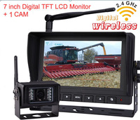 Free shipping Upgraded version 2.4Ghz wireless rear view backup camera system for vehicles buses, trucks, tractors