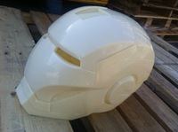 White mould Helmet face mask luminous iron man,Iron Man helmet Wearable masks can be opened and closed