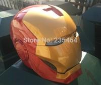 Helmet face mask luminous iron man,Iron Man helmet Wearable masks can be opened and closed ,Luminous eyes