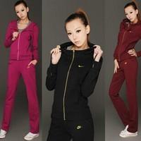Slim thin sportswear suit woman suit cotton casual sportswear Spring