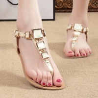 New 2014  Women Flats Sandals For Women Shoes Girls Shoes Her Summer Shoes Flip Flops