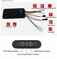 free shipping Tracking System GT06 + GPS GPRS GSM Car Vehicle Tracker Device Finder SOS Alarm