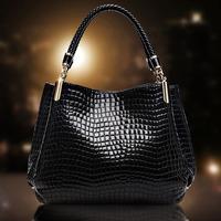 2014 women's crocodile pattern handbag genuine leather women's handbag fashion shoulder bag female portable women's handbag bag